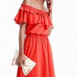 J. Crew Off-the-shoulder ruffle dress Size Small